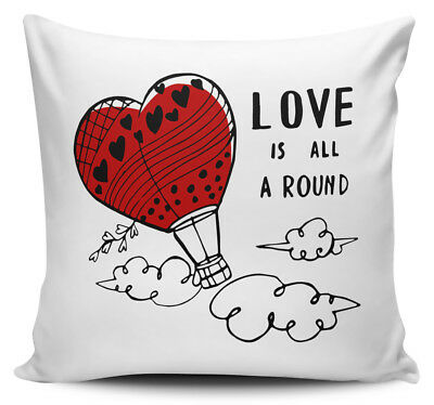 Love Is All Around Cute Novelty Cushion Cover w/ Insert