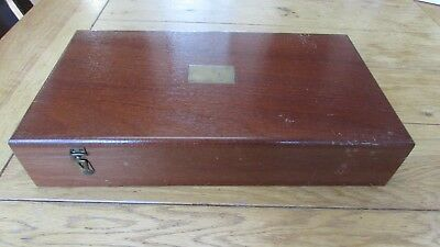 Vintage Wooden Pistol Case Late 19th early 20th Century - Cogswell & Harrison