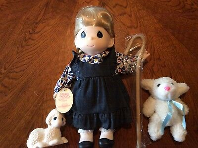 "NEW Precious Moments ""MARY HAD A LITTLE LAMB"" Doll, 12"", 1997"