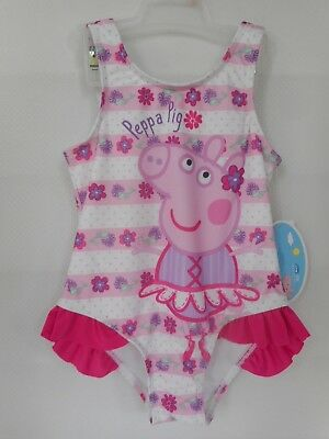 Peppa Pig One-piece Swimsuit Pink Toddler Girls Size  3T NWT