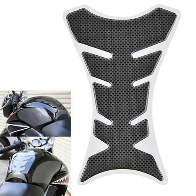 """Motorcycle Gas Tank Sticker Decal Protector Pad Carbon Fiber Universal L 7"""""""