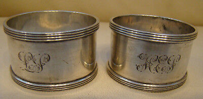 Pair Antique Sterling Silver Napkin Rings