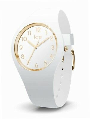 561406e09e4c66 Ice-Watch - ICE glam White Gold Numbers - Montre blanche pour femme avec.