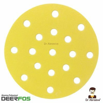 150mm Sanding Discs 6inch for Festool Rotex 17 Hole Sandpaper Pads Grit 40-400
