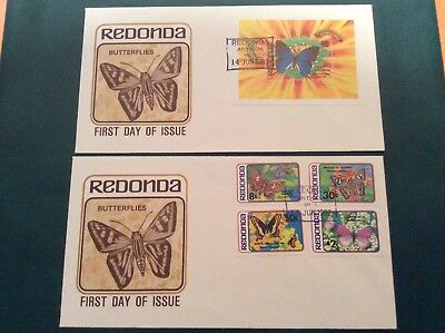 1982 Antigua Redonda FDC Stamp Butterflies SG Index