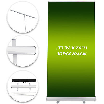 "10 Pcs 33""x79"" Economy Retractable Roll Banner Stand Display Aluminum Promotion"