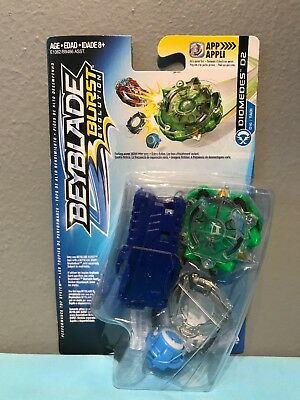 Beyblade Burst Diomedes D2 Attack Starter Pack D16 Spin Tops Toy Official Hasbro