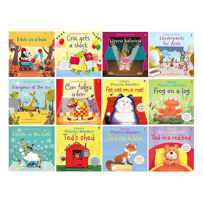 Usborne Phonics Readers Collection Set of 12 Books (RRP £60.88)