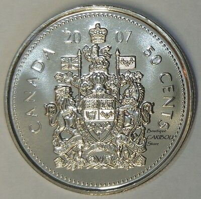2007 Canada 50 Cents Coat of Arms BU