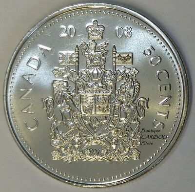 2008 Canada 50 Cents Coat of Arms BU