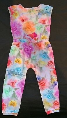 Ted Baker - Girls - Floral Playsuit - Age 18-24 Months