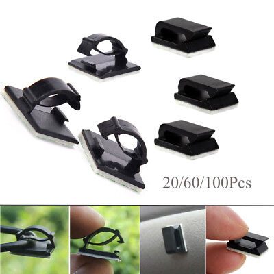 100 Pcs Adjustable Cable Clips Self-Adhesive Cord Fixer Wire Clamp Strap Ho X6M8