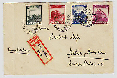+++ 3.reich Toller Reco Mit Mif 580/83 Cochem/mosel Bahia/brasilien 1935 +++
