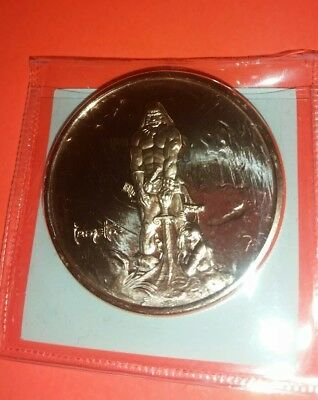 Conan The Barbarian 1.oz. Copper Coin Frank Frazetta 1928-2010! Mint! Brand New!
