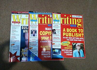 3 x Vintage Issues of Writing Magazine - 1998