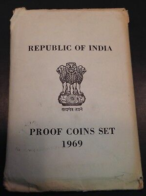 Republic of India Proof Coins Set 1969 (Sealed)