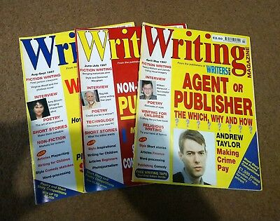 3 x Vintage Issues of Writing Magazine - 1997