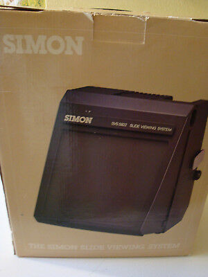 SIMON SVS 5822 SLIDE VIEWING SYSTEM with SLIDE EDITING RACK , COVER, BOX