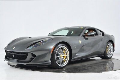 2018 Ferrari 812 Superfast Certified CPO Atelier Carbon Fiber LED Forged Black Ceramic Exhaust Shields Cameras Display