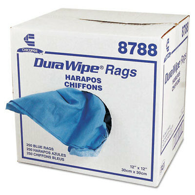DuraWipe General Purpose Towels, 12 x 12, Blue, 250/Carton