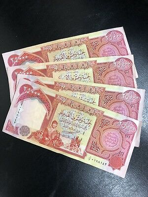 100,000 Iraqi Dinar! (4) 25,000 Notes Circulated. Authentic Iqd! Fast Delivery!