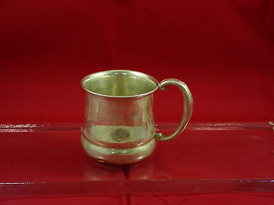 """Antique K. Webster Company Sterling Silver Baby Cup ,engraved """"judy"""" Pat# 4693"""
