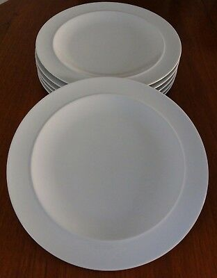 "Denby ""White By Denby"" 12.5 Inch Dinner Plates X 6"