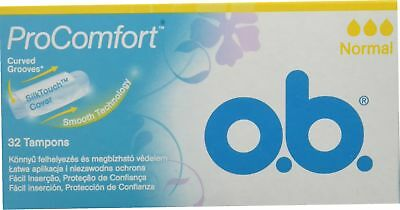 OB ProComfort Boite de 32 tampons sans applicateur, normal