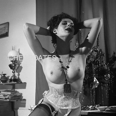 CDN2-1224 VINTAGE B&W NEGATIVE '60s SOLO ART POSED NUDE MARIA CLARENCE