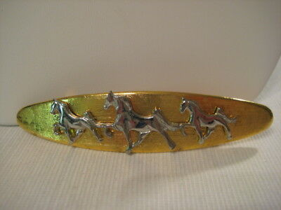 Vintage Two Tone Hair Barrette Made In France Tennessee Walking Horses