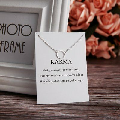 Simple Circle Charms Pendant Chain Choker Necklace Womens Fashion Jewellery New