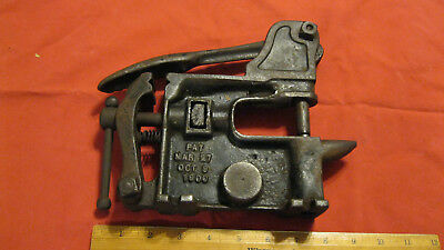 Antique Pomeroy No.1 Horse Harness Rivertor, Vice And Anvil