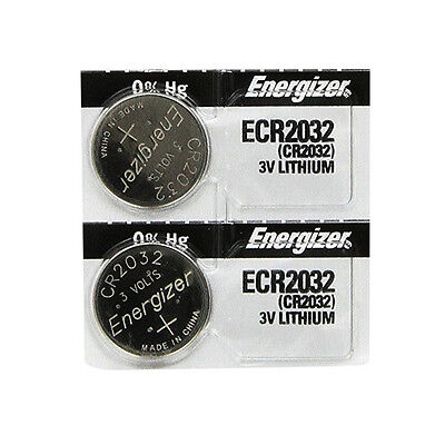 2 Pcs Energizer 2032 ECR2032 CR2032 3V Lithium Button Cell Batteries