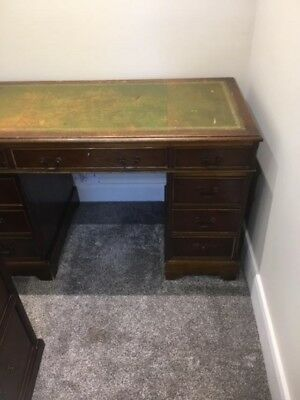 Antique Desk and Drawers with Leather inserts