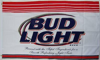 Bud Light Beer Flag 3' X 5' Ft Beverage Banner Bar Man Cave Restaurant Budweiser