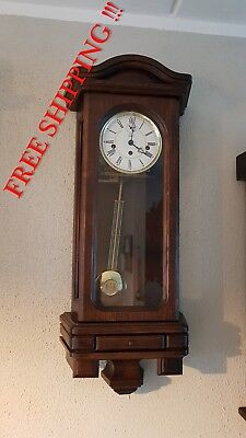 0152- Kieninger German Westminster chime wall clock