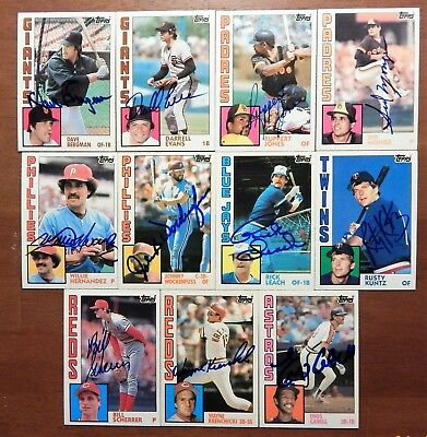 11  Autographed  Baseball Cards 1984 Topps X Detroit Tigers