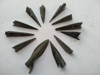 Lot Of 12 Ancient Bronze Arrow Head