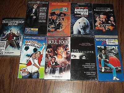 Lot of 9 New VHS VCR Movies Sealed Tapes