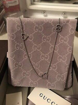 100% Genuine Ladies Gucci Sterling Silver Boule Station Necklace And Bracelet