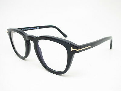 8a0f82e732309 New Authentic Tom Ford TF 5488-B 001 Shiny Black with Blue Block Eyeglasses  49mm