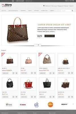 Online Shop /Store Shopping Cart Ecommerce Complete Website With Hosting