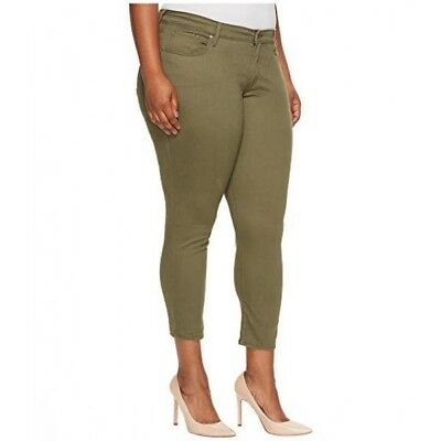 Levi's® Plus 711 Skinny Ankle Women's Skinny Fit Jeans Kalamata Green New 16W