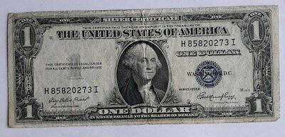 1935 E - ONE DOLLAR SILVER CERTIFICATE W/BLUE SEAL, CIRCULATED  Nice