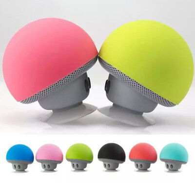 Waterproof Wireless Mini Bluetooth Mushroom Portable Stereo Speaker iPhoneBILS
