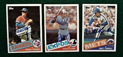 3 Autographed  Signed Baseball Cards from the 1985 Topps X Detroit Tigers