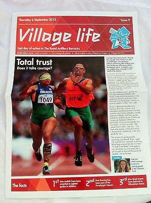 """""""Village Life"""" Newsletter for the Paralympic Village at London 2012 from 9 Sept"""