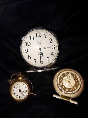 Job Lot Of 3 X Vintage Or Collectable Clocks For Spares Or Repairs