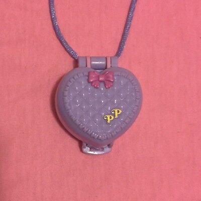 Polly Pocket Vintage Baby And Blanket Heart Locket 1993