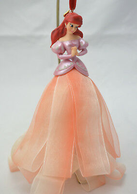 Disney Princess Ariel Ribbon Dress Christmas Ornament 2007 Little Mermaid